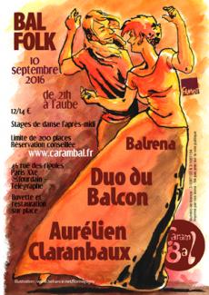 Carambal avec Aurélien Claranbaux, Duo du Balcon, et Balrena à Paris le 10 septembre 2016
